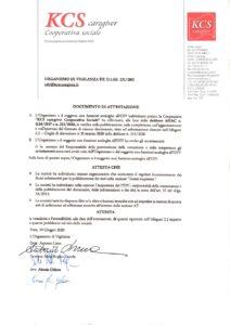 Documento di attestazione « Consorzio Stabile KCS
